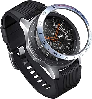 Topictogo Stainless Steel Bezel Ring for Galaxy Watch 46mm - Gear S3 Frontier & Classic - Cover Protector Adhesive Styling Scratch Protection Accessories Compatible (Model1)
