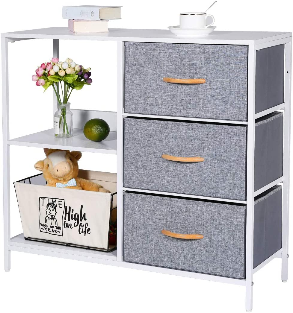 Kamiler Price reduction Storage Dresser with 3 Drawers Year-end annual account O 2 Cabinet