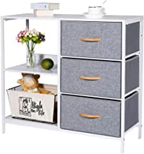Kamiler Storage Dresser with 3 Drawers, Storage Cabinet with 2 Open Shelves, Chest of Drawer for Bedroom,Office, Entryway,...