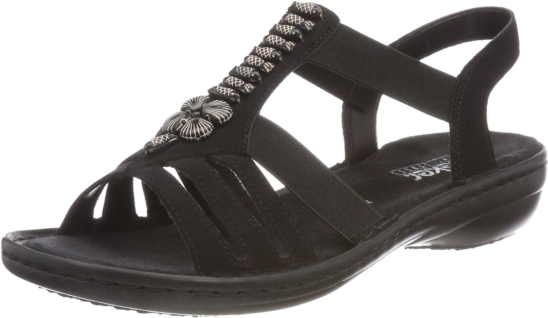 Rieker Damen-Sandalette - E 1 2 black (1)
