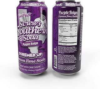 Screw's Southern Soda (Purple Reign - Lemon Lime Soda, 24 Pack - 16 Fl Oz Can)
