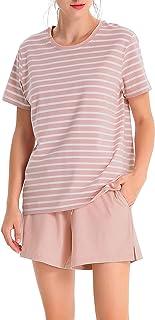 بيجامات نسائية نسائية قطنية قصيرة من Femofit ملابس نوم نسائية بيجامات مقاس S~XL