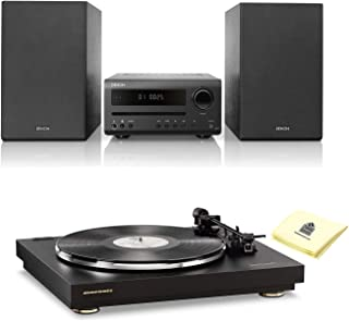 Marantz TT42P Fully Automatic Belt-Drive Turntable with Pre-Mounted Cartridge and Built-in Phono Preamp Bundle with Denon D-T1 Hi-Fi Mini Home Theater System and Zorro Sounds Polishing Cloth
