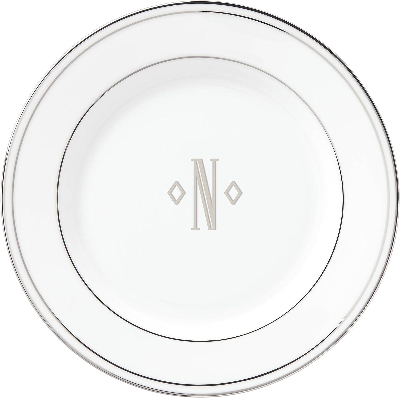 Lenox New York Mall Ranking TOP14 Federal Platinum Block Monogram Bread Butter Pl Dinnerware