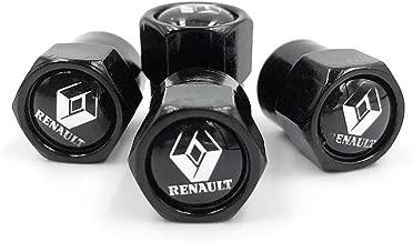 BIYI 4PCS Set Belle Conception Mignonne Roue de Voiture Valve de Pneu Casquettes de Pneu Durable m/étal Bouchon de Valve de Voiture de Style Convient pour Renault Argent