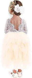 white flower girl dresses with sleeves