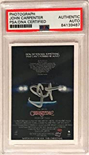 John Carpenter Christine Horror Movie Signed Auto 2x3 Photo Slabbed - PSA/DNA Certified