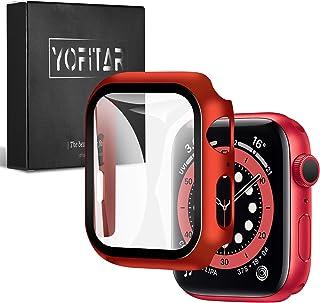 【2021改良モデル】YOFITAR Apple Watch 用 ケース series6/SE/5/4 40mm アップルウォッチ保護カバー ガラスフィルム 一体型 PC素材 全面保護 超薄型 装着簡単 耐衝撃 高透過率 指紋防止 傷防止 (s...
