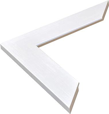 BrandtWorks AZBM086L Framed Non Beveled Mirror, 32 x 38, Pearl White