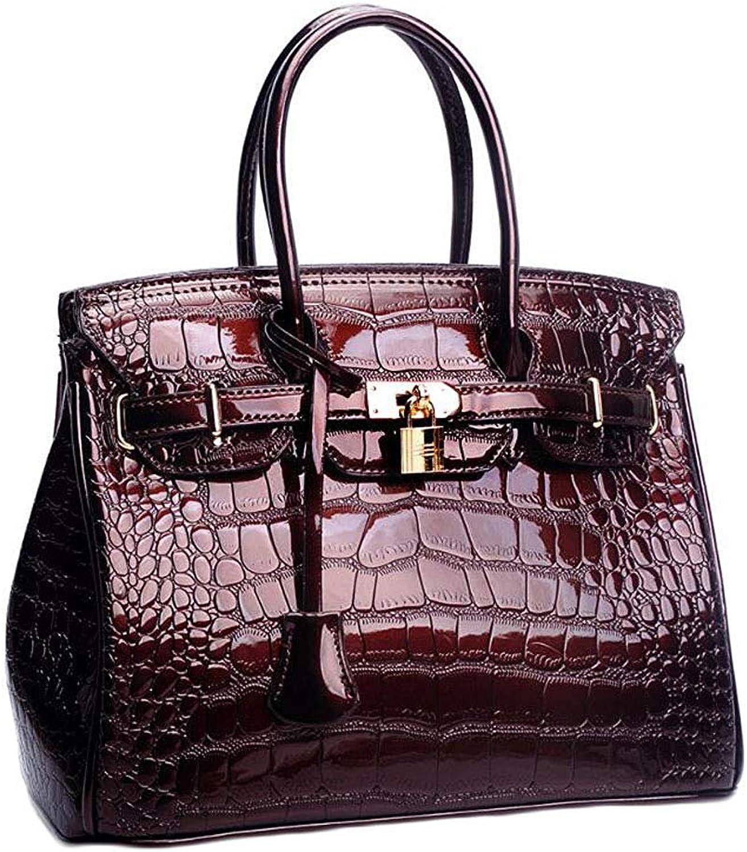 Ladies Handbag Women's Hand Bag, Fashion Crossbody Shoulder Bag Travel Tote (color   Brown, Size   One Size)