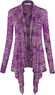 Lock and Love Women's Basic Draped Long Sleeve Open Front Knit Cardigan S - XXXL Plus Size - Made in U.S.A.