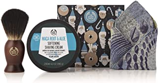The Body Shop Men's Shave Away Gift Set, Shaving Cream Enriched With Community Trade Maca Root & Aloe Vera, Perfect Gift for Him