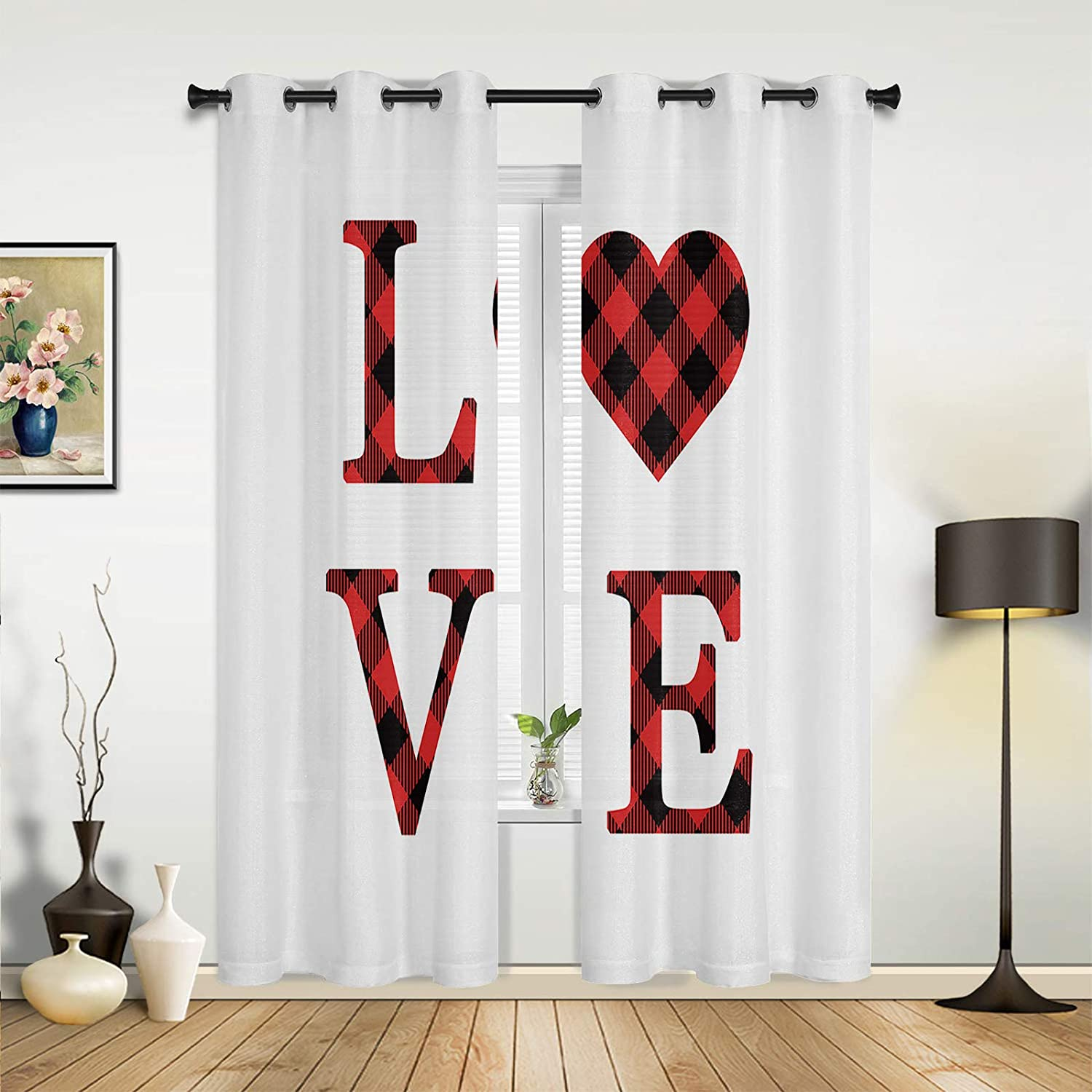 Beauty Decor Window Large-scale sale Sheer Curtains Happy Ranking TOP6 Room for Bedroom Living