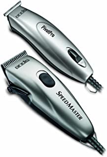 Andis Professional PivotPro SpeedMaster Hair Clipper and Beard Trimmer Combo, Silver, Model PM-1/PMT-1 (23965)