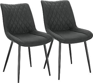 WOLTU® Esszimmerstühle BH248an-2 2er Set Küchenstuhl Polsterstuhl Wohnzimmerstuhl Sessel mit Rückenlehne, Sitzfläche aus S...