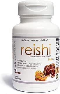 Reishi Mushroom Capsules   700 mg   35% Lingzhi Extract   30 Day Supply
