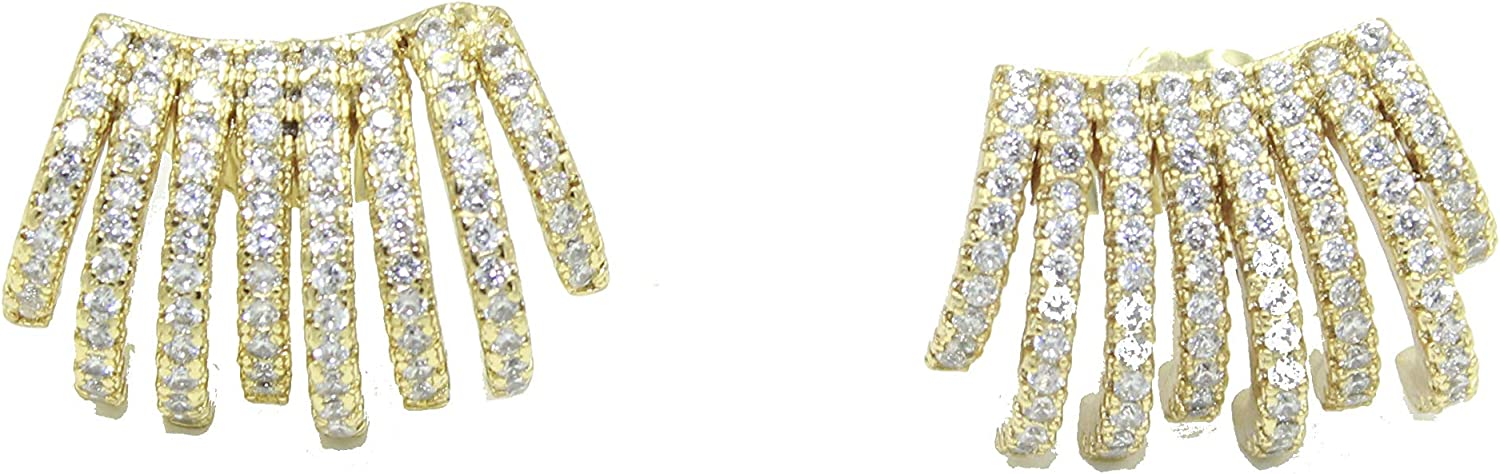 CZ Ear Wraps 18k Gold Plated - CZ Earrings 18k Gold Plated