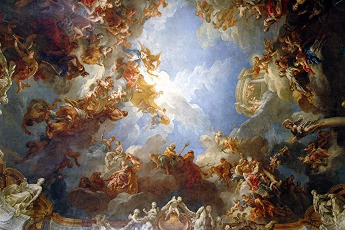 Amazon Com Heavenly Painting Versailles Wall Mural By Wallmonkeys Peel And Stick Graphic 24 In W X 16 In H Wm153643 Home Kitchen