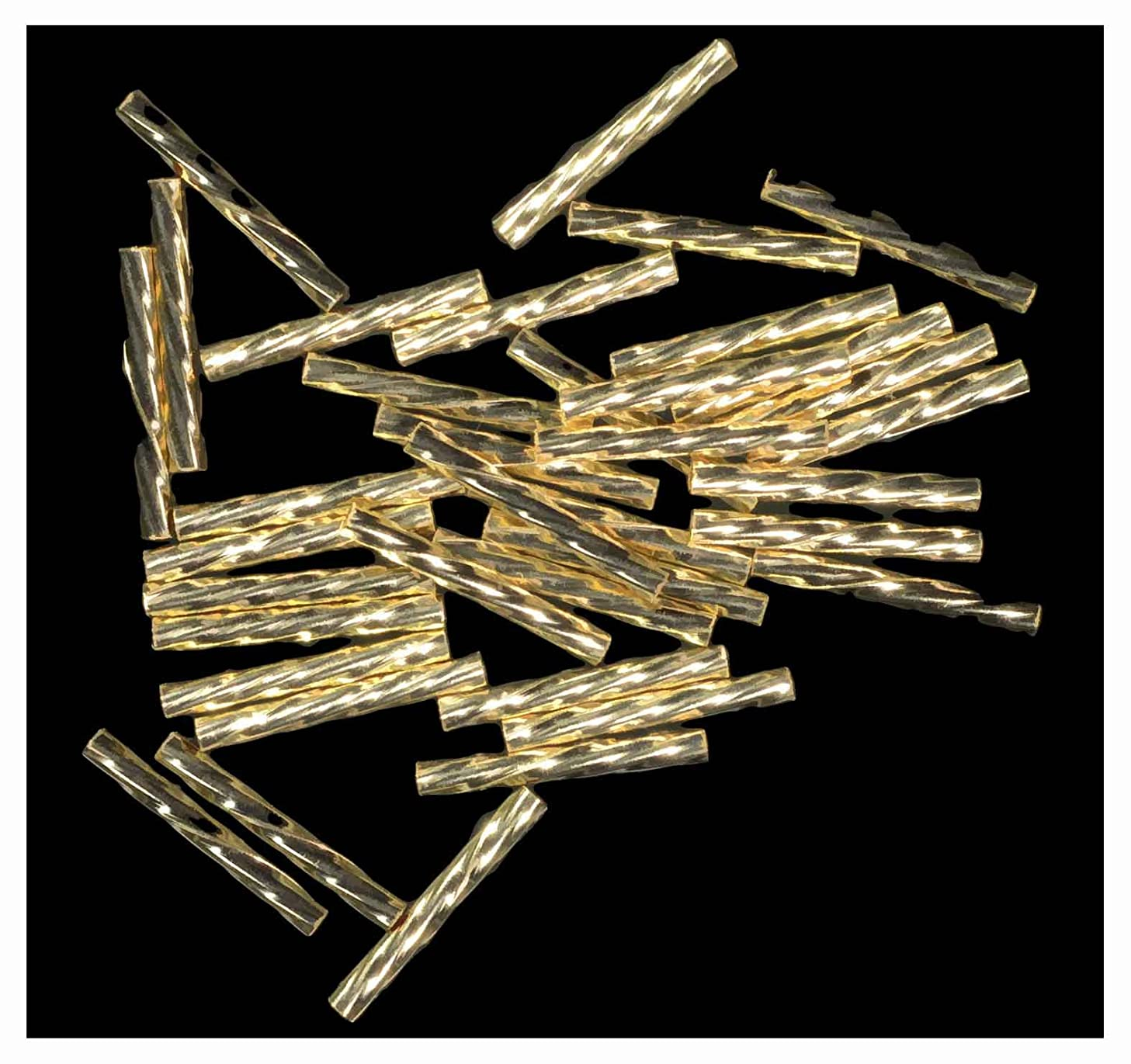 Twist Tube Gold Filled Beads 925 .037