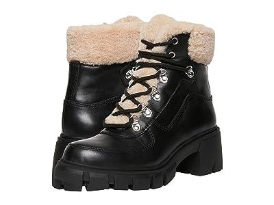 STEVEN NEW YORK Henlie Water Resistant Bootie (Black Leather) Women