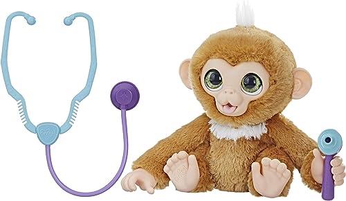 FurReal Friends – Peluche interactive Zandi, Le Bébé Singe Va chez Le Médecin – Version française