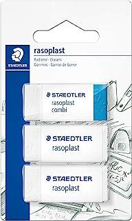 Staedtler 526-S BK3D eraser blister card with 2 pieces of rasoplast