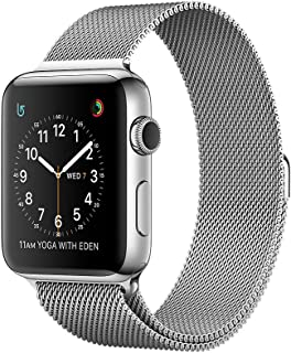 Apple Watch Series 2-38mm Stainless Steel Case with Milanese Loop, OS 3 - MNP62
