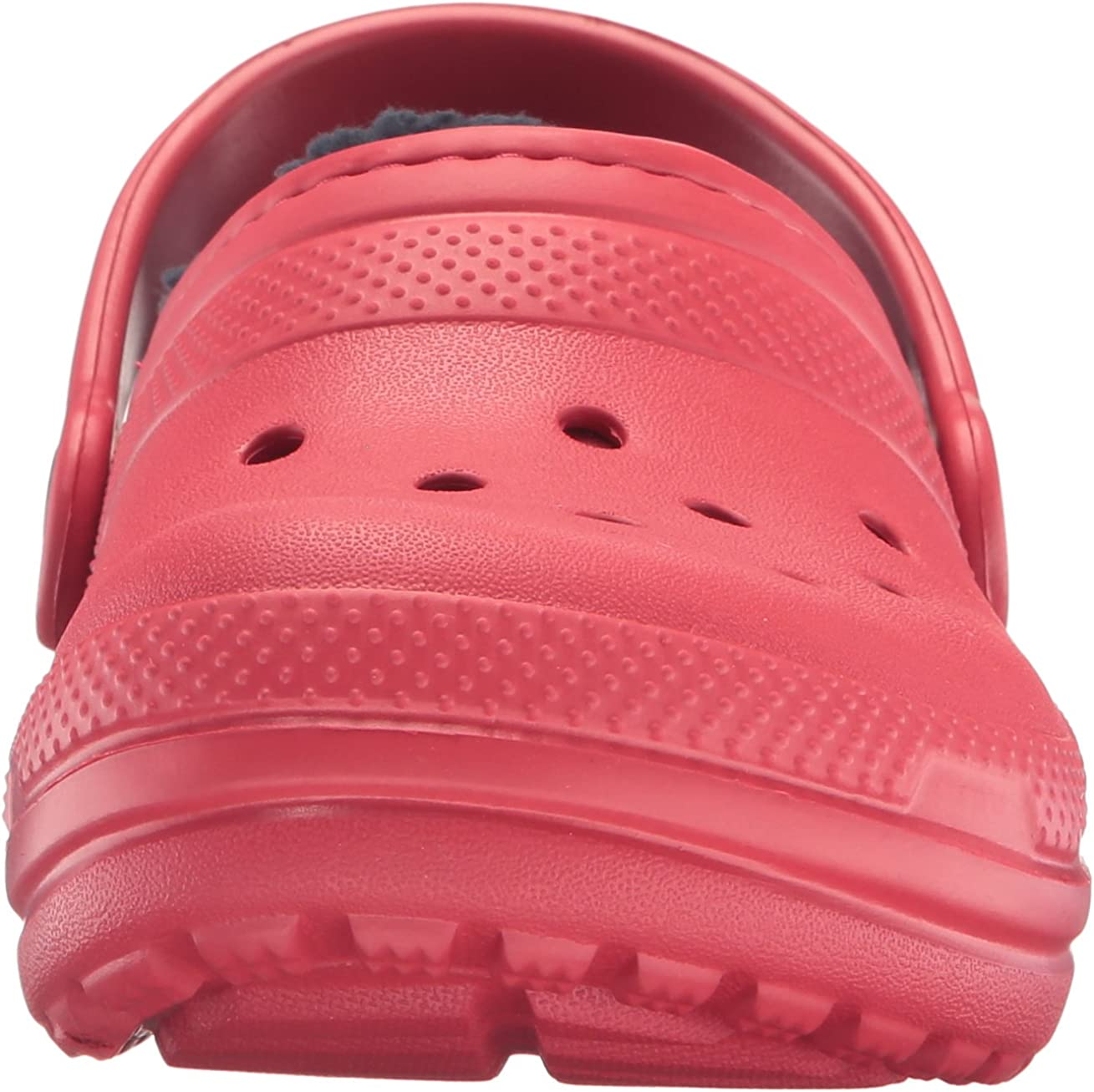 Crocs Kids Classic Buffalo Plaid Lined Clog Warm and Fuzzy Slippers for Kids