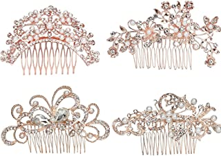 crystal bow hair comb