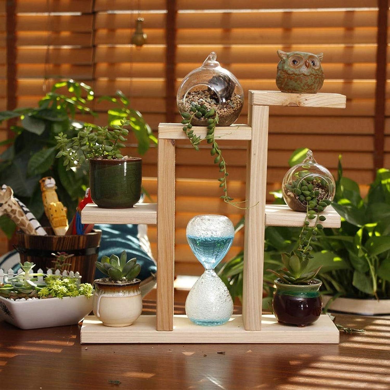 WAN SAN QIAN- Solid Wood Flower Stand Desktop Display Flower Shelf Bedroom Study Office Plant Frame Flower racks (color   B)