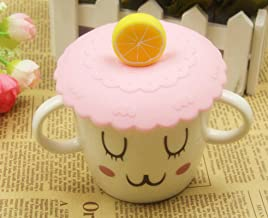 Silicone Dustproof Cup Lid Daily Necessities Creative Cartoon Daily Necessities Cup Lid Round Silicone Cup Lid