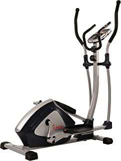 Sunny Health & Fitness Magnetic Elliptical Trainer Elliptical Machine w/ Tablet Holder, LCD Monitor and Heart Rate Monitoring - Endurance Zone - SF-E3804
