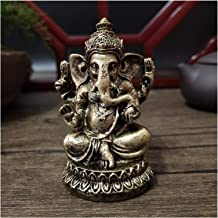 Bronze Color Lord Ganesha Buddha Statues Elephant Hindu God Sculpture Figurines Ornaments Resin Home Decoration Lucky Gifts
