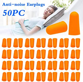 Wishdeal 50 Pairs Soft Foam Earplug, 34dB Highest NRR, Ear Plugs for Hearing Protection, Noise Reduction, Sleeping, Shooting