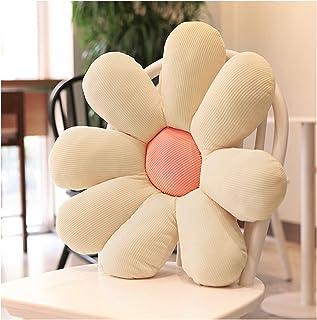 BYZJYJY Almohada Decorativa para el Suelo con Flores de Margarita, cojín de Felpa, Regalo de cumpleaños para niñas