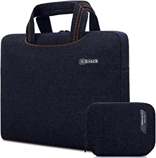 Brinch Fabric Portable Waterproof Anti-Tear Laptop Pouch for 15-15.6 inch Tablet/Apple MacBook/Chromebook/Acer/Asus/Dell/Fujitsu/Lenovo/HP/Samsung/Sony/Toshiba - Dark Blue