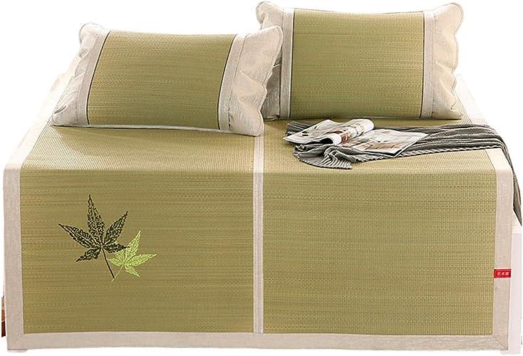 Matelas de couchage d'été Matelas frais, tapis de paille de couchage tapis de couchage d'été tapis pliant multifonction confortable, 1.2 1.5 1.8m (taille   1.5×2.0m)