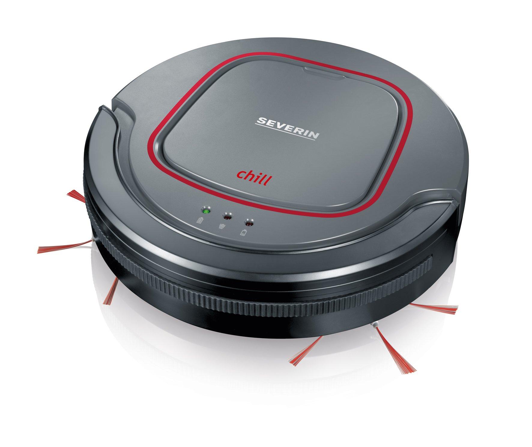 Severin RB 7025 Robot aspirador, batería de iones de litio de 12.8 V, Chill, gris/rojo/negro: Amazon.es: Hogar