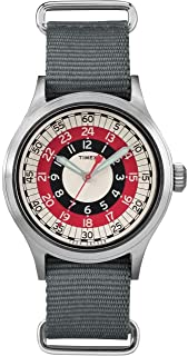 Timex メンズ トッドスナイダー レッドモッド 40mm One Size Grey/Red/White