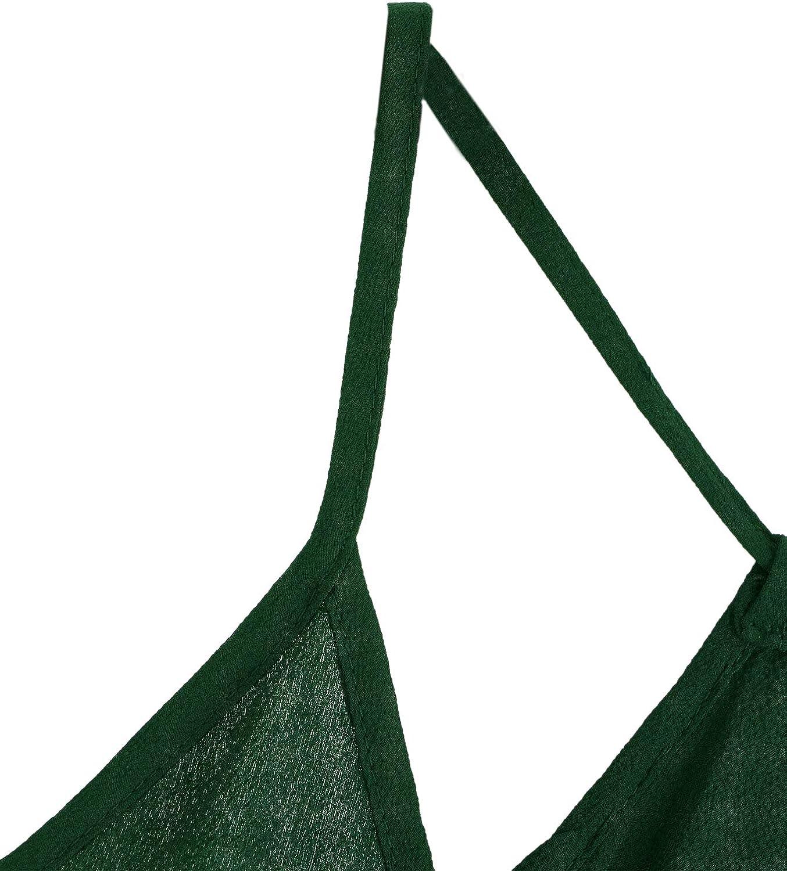 MakeMeChic Womens Solid V Neck Pleated Hem Sleeveless Cami Top