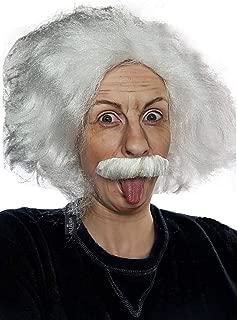 einstein wig and moustache