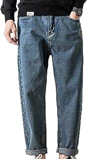 Generic11 Jeans Casual da Uomo Comodi Pantaloni Classici retrò Traspiranti Non Facili da sbiadire Pantaloni in Denim con T...