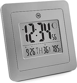 Marathon CL030049GG Digital Wall Clock, Graphite Grey