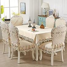 tafelkleed set stoel pakket stoelkussen stof restaurant eettafel stoelhoes ((13-piece set),Beige)