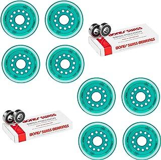 Labeda Inline Roller Hockey Skate Wheels Union Teal 80mm 4 Set Bones Swiss