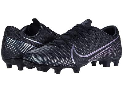Nike Mercurial Vapor 13 Academy FG/MG (Black/Black) Cleated Shoes