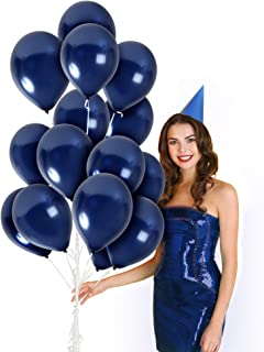 Metallic Royal Navy Blue Balloons 36 Pack 12 Inch Latex Galaxy Nautical Gender Reveal Girl or Boy Party Supplies Bridal Baby Shower Birthday Congrats Grad Engagement Bulk Decorations
