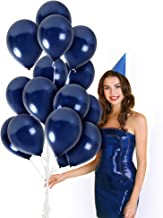 Metallic Royal Navy Blue Balloons 100 Pack 12 Inch Latex Galaxy Nautical Gender Reveal Girl or Boy Party Supplies Bridal Baby Shower Birthday Congrats Grad Engagement Bulk Decorations
