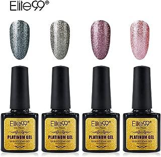 Elite99 Platinum Gel Nail Polish Set Soak Off UV LED Nail Lacquers Shiny Manicure Nail Art Glitter Varnish 10ML (003)