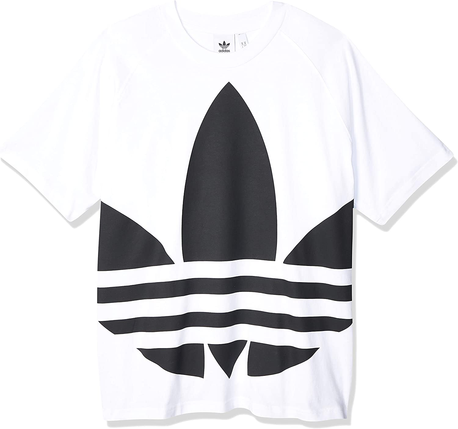 Limited time for Indefinitely free shipping adidas Man T-Shirt bg Trefoil White l tee fm9903